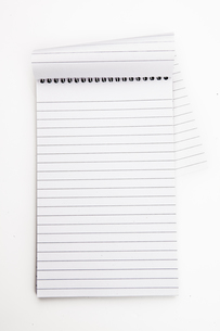 Empty notepad  sheetの素材 [FYI00487008]