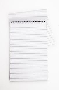 Empty notepad  sheetの写真素材 [FYI00487008]