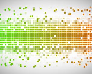 Green and orange squaresの写真素材 [FYI00487013]