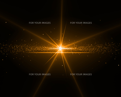 Background with an orange starの写真素材 [FYI00487024]
