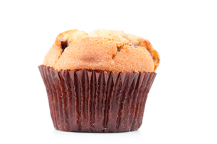 Close up of a fresh baked muffinの素材 [FYI00487035]
