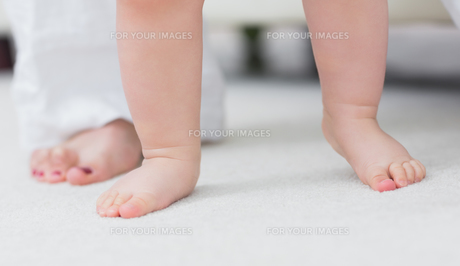 Close up of the baby feetの写真素材 [FYI00487059]