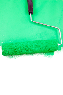 Painting with a green colorの素材 [FYI00487092]