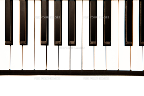 Keyboard of a pianoの写真素材 [FYI00487107]