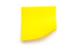 Yellow adhesive noteの写真素材 [FYI00487120]