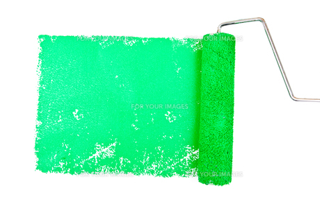 One green trace of paintingの写真素材 [FYI00487177]