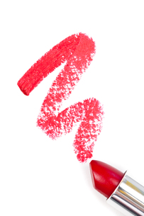 Red trace of lipstickの写真素材 [FYI00487200]