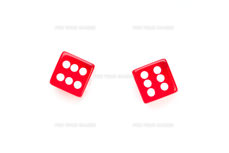 Two red dicesの写真素材 [FYI00487222]
