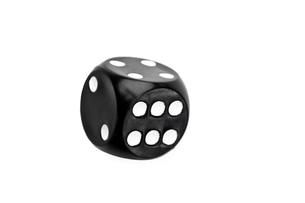 Black dice in motionの写真素材 [FYI00487236]
