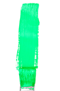 Green vertical line of paintingの写真素材 [FYI00487256]