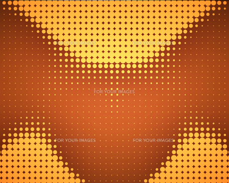 Yellow dots placed in waveの写真素材 [FYI00487277]