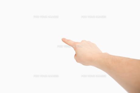 Finger pointing a blank spaceの写真素材 [FYI00487278]