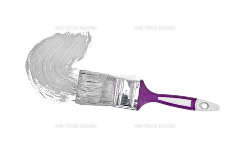 Grey brush stroke forming a semicircleの写真素材 [FYI00487297]
