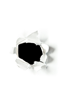 Circle hole in paperの写真素材 [FYI00487323]