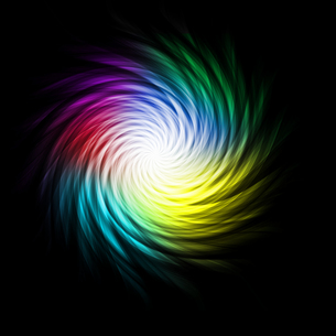 Bright multicolored curves making a spiralの素材 [FYI00487422]