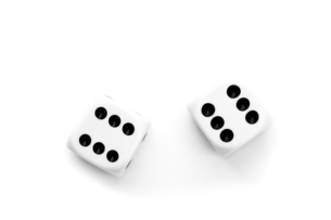 Black and white dicesの写真素材 [FYI00487433]