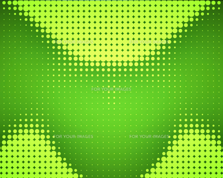 Green dots placed in waveの写真素材 [FYI00487435]