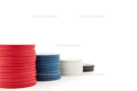 Piles of poker tokensの素材 [FYI00487444]