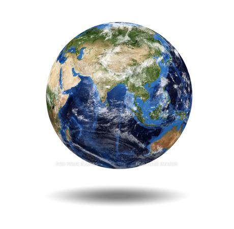Isolated planet globeの写真素材 [FYI00487465]