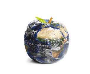 3d apple Earthの写真素材 [FYI00487502]