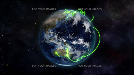 Illustration about the connected world in space with an Earth image courtesy of Nasa.orgの写真素材 [FYI00487536]