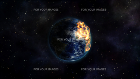 Illustrated picture about the connected world with an Earth image courtesy of Nasa.orgの写真素材 [FYI00487537]