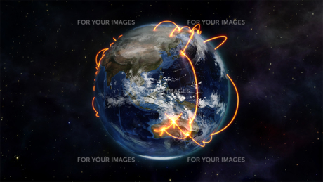 Illustrated picture about worldwide connectivity with an Earth image courtesy of Nasa.orgの素材 [FYI00487539]