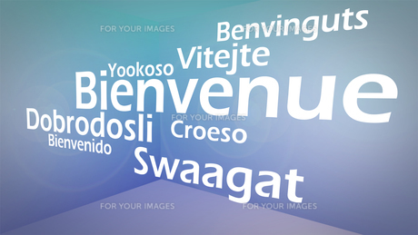Creative image of welcoming words conceptの写真素材 [FYI00487541]