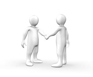 3d men shaking handsの写真素材 [FYI00487548]