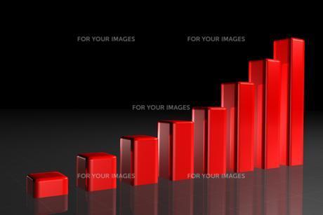 Red rising barsの写真素材 [FYI00487553]