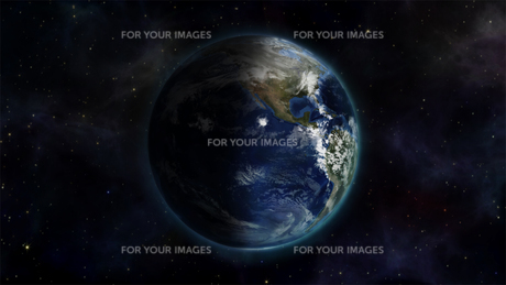 Illustrated image of the world with an Earth image courtesy of Nasa.orgの素材 [FYI00487562]