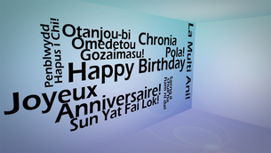 Creative image of international happy birthday conceptの写真素材 [FYI00487582]