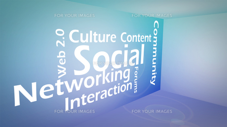 Creative image of social networking conceptの写真素材 [FYI00487613]