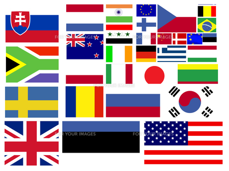 Collection of world flagsの写真素材 [FYI00487617]