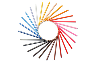 Color pencils in circleの素材 [FYI00487659]