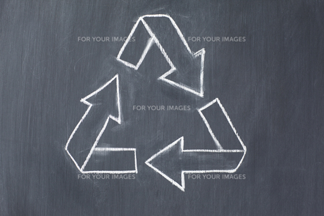 Vector recycle symbol drawnの写真素材 [FYI00487687]