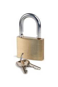 Padlock and keysの素材 [FYI00487711]