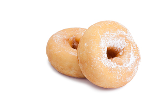 Donuts with icing sugarの写真素材 [FYI00487734]