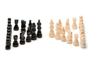 Blank and white pieces of chessの素材 [FYI00487737]