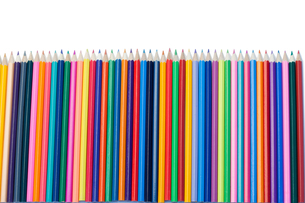 Color pencils vertical alignmentの写真素材 [FYI00487754]