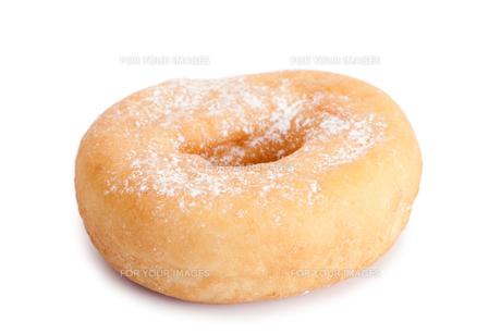 Doughnut with icing sugarの写真素材 [FYI00487758]