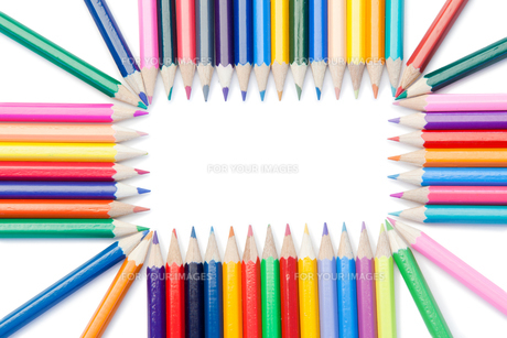Color pencils rectangleの写真素材 [FYI00487771]