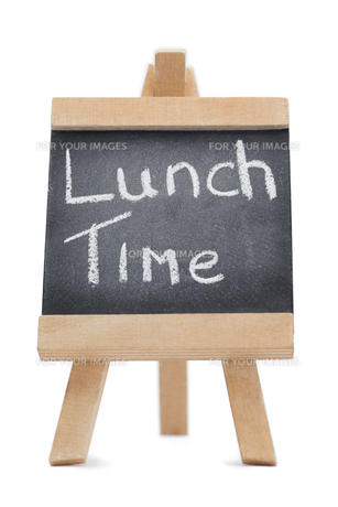 Chalkboard with the words lunch time written on itの写真素材 [FYI00487773]