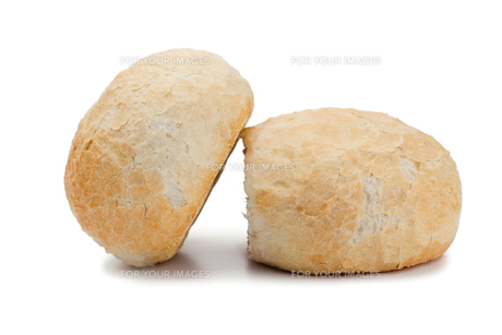 Bread roles on a white backgroundの素材 [FYI00487781]