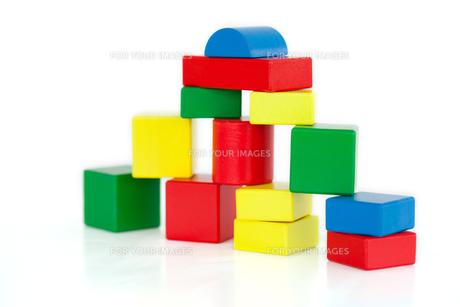 Wooden building blocksの写真素材 [FYI00487784]