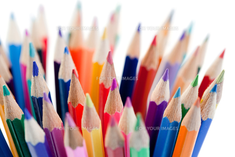 Bunch of colored pencilsの写真素材 [FYI00487785]