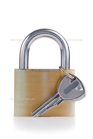 Padlock and keyの素材 [FYI00487790]
