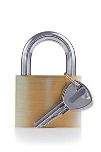 Padlock and keyの写真素材 [FYI00487790]