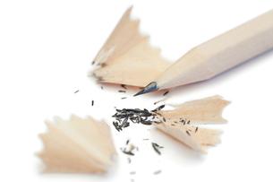 White pencil and its peelingsの素材 [FYI00487817]