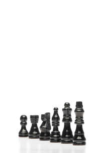 Black chess piecesの写真素材 [FYI00487821]